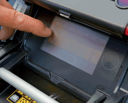 Touch display of Ambrogio l250i Elite