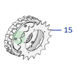 Ambrogio Wheel Spike L30 L32 L35 - Soft tire 051Z50900A- 2